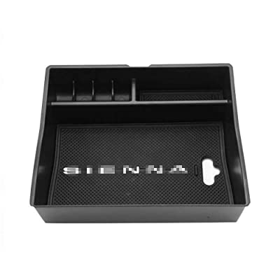 Salusy Center Console Organizer Storage Box Secondary Armrest Glove Box Compatible for Toyota Sienna 2011-2020: Home Improvement