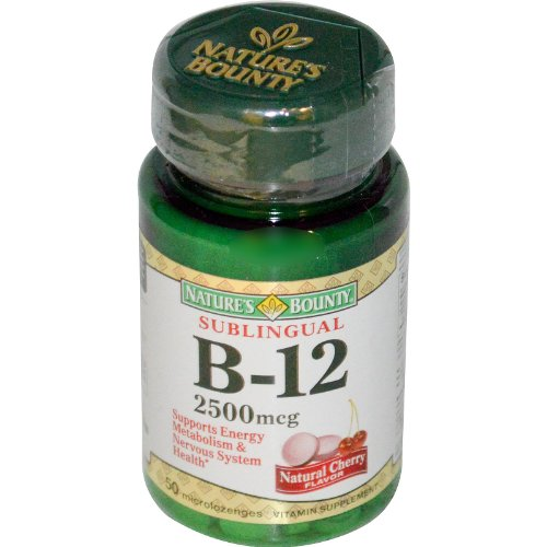 Natures Bounty Vitamin B 12 Sublingual