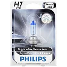 Philips H7 CrystalVision Ultra Upgrade Headlight Bulb, 1 Pack
