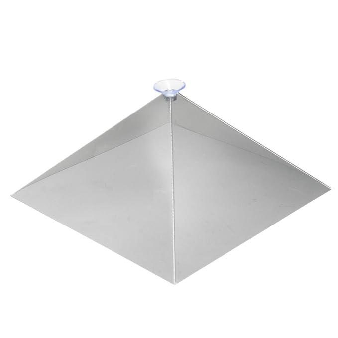 ROUHO 3D Holográfica Holograma Exhibición Pirámide Stand Proyector ...