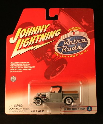 '29 FORD MODEL A TRUCK #3 * GRAY * 2002 Johnny Lightning RETRO RODS Series 1 Limited Edition Die Cast Vehicle * 1 of only 15,000 ()