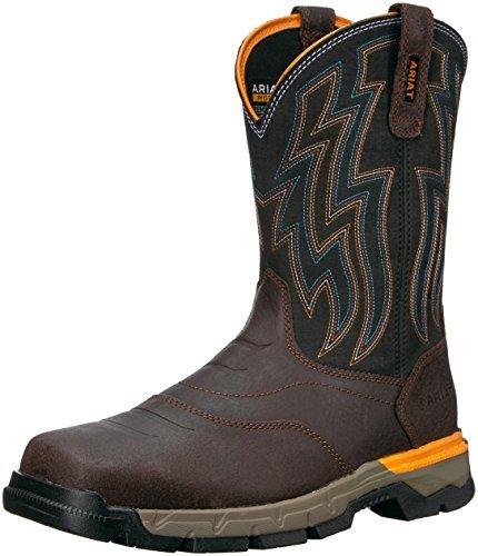 Ariat Men's Rebar Flex Western Work Boot Soft Toe Chocolate 14 EE