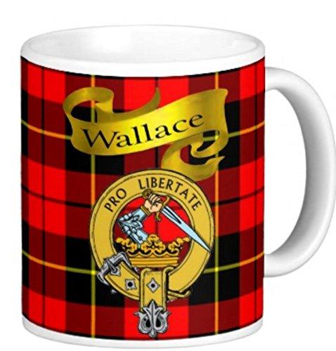 Scottish Clan Wallace on 11 Oz. Ceramic Coffee Mug Clan crest on both ()