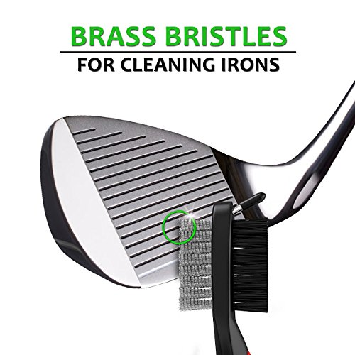 STIXX Golf #1 Golf Club & Grip Cleaner and 3-in-1 Heavy Duty Golf Brush & Groove Cleaner Kit. 2 Great Products Easily Attach to Your Golf Bag. Great gift for Golfers! by STIXX Golf (Image #6)