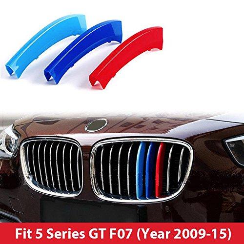 B M W Série 5 2010-2016 GT F07 M Power M Sport Tech Bonnet Rein Grille Grill Trim Clip Boucle en inserts à rayures Rayures Coque Décor Biznon