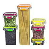 Food Storage Air Tight Container Snacks Plastic Set of 12