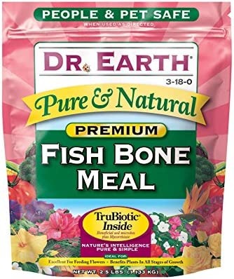 Dr. Earth Pure Natural Fish Bone Meal 2.5 lb