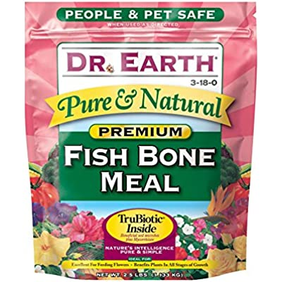 Dr. Earth Pure & Natural Fish Bone Meal 2.5 lb