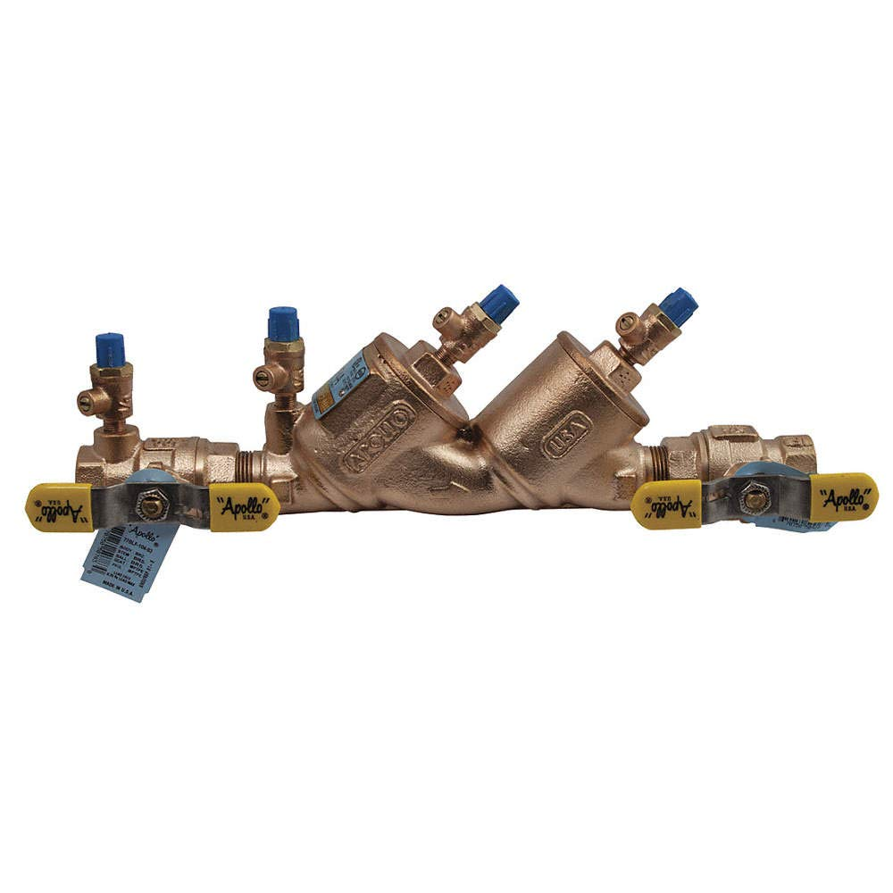 Lead Free Bronze Apollo 4ALF-100 Series FNPT Connection 4ALF108A2F Apollo Double Check Valve Assembly