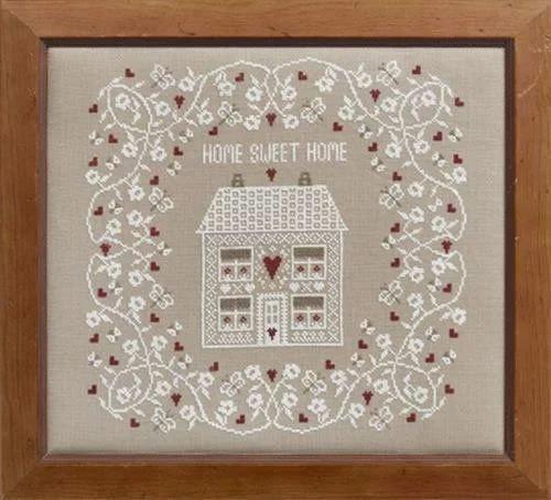 Sampler The Home Of - Historical Sampler Company White Home Sweet Home Cross Stitch Kit