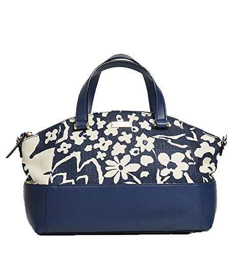 (Kate Spade 'Charlotte Street' Floral Print Small Sloan, French Navy/Champagne)
