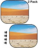 MSD Car Sun Shade Protector Side Window Block Damaging UV Rays Sunlight Heat for All Vehicles, 2 Pack Image ID: 3805198 Dead Vlei Sossusvlei Namib Desert Namibia