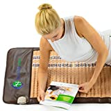HealthyLine Far Infrared Heating Pad - Natural Amethyst Jade Tourmaline Crystals - Soft Mat Full Short 6024 InfraMat Pro®
