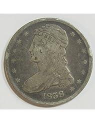 1838 P Bust Half Dollar 50c Very Good