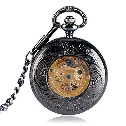 ZJZ Vintage fickur hänge automatisk mekanisk vintage fickur grillar själv vintage gåva