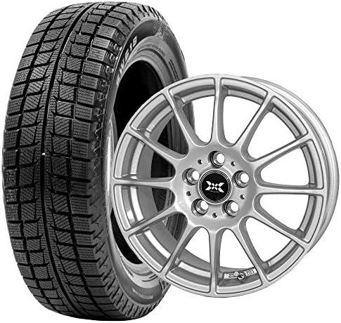 GOODRIDE (グッドライド) スタッドレスタイヤ ホイールセット 195/60R16 SW618 + 16×6.5J +45 5/114.3 メタリックシルバー 4本セット 2019年製