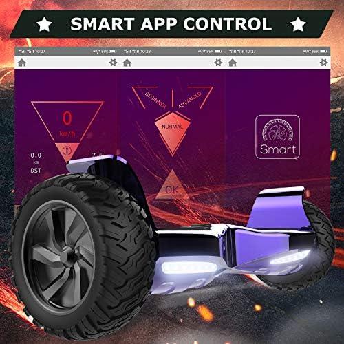 RCB Hoverboards SUV Scooter Auto-équilibré électrique Tout Terrain 8.5 '' Gyropode Hummer Bluetooth APP + Hoverkart Go Kart pour Gyropode