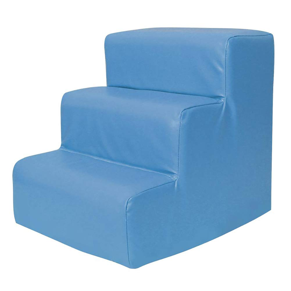 bluee CHAOYU Pet stairs pet stair 3 step dog cat stairs slip (color   bluee)