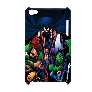 3D Print DC Comics Teen Titans&Young Superheros Theme Case Cover for iPod Touch 4 - Personalized Hard Cell Phone Back Protective Case Shell-Perfect as gift