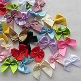 Chenkou Craft 60Pcs Mini Satin Ribbon