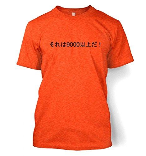 It's Over 9000! Herren t-shirt (XX-Large (50/52)/Heather Orange)