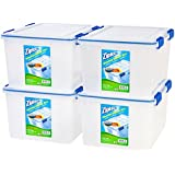Ziploc WeatherShield 44 Quart Storage Box, 4 Pack, Clear