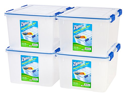 Ziploc 4-Piece Small Deep Weathertight Storage Box Set