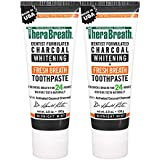 TheraBreath Fresh Breath Toothpaste, Midnight Mint Flavor, Charcoal Whitening, 3.5 Oz (Pack of 2)