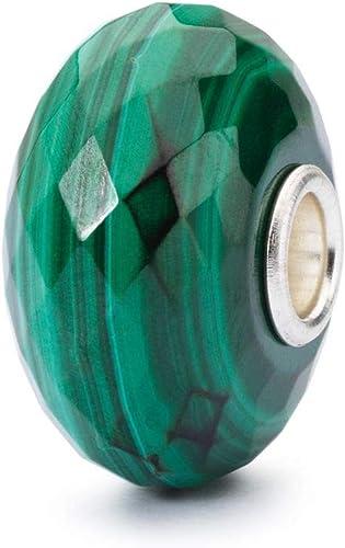 TSTBE-20023 ORIGINAL TROLLBEADS Silber Bead Malachit