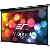 Elite Screens Manual, 84-inch 16:9, Pull Down Projection Manual Projector Screen with 30-inch Drop, M84UWH-E30