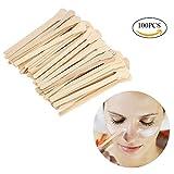 Wax Applicator Sticks, 100pcs Salon Waxing Hair Removal Large Wooden Wax Applicator Sticks