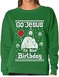 TeeStars Go Jesus Its Your Birthday Ugly Christmas Sweater Women Sweatshirt