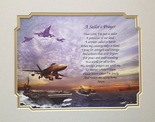 Navy Gift Birthday Sailor's Prayer Veterans Day Christmas Father's Day Military US Navy Naval Sailor Son Daughter Husband