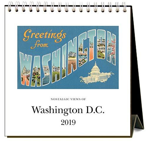 Washington DC 2019 Easel Desk Calendar by Found Image Press