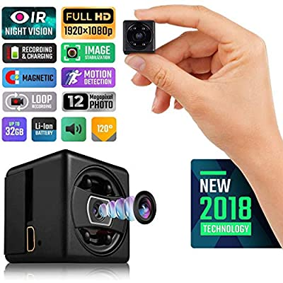 Spy Camera, Ocaatech Mini Hidden Camera|1080P Full HD| Magnetic| 32GB Micro SD support|Motion Detection| Loop Recording| 24/7 Continuous Monitoring of Indoor Serurity & Outdoor Recording As a Aport Ca by Ocaatech