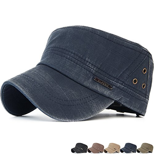 Rayna Fashion Unisex Adult Cadet Caps Military Hats Various Design and Colors (Beret Studded)