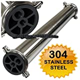 304 Stainless Steel Membrane Housing 4 x 40 RO Filtration 1/2''