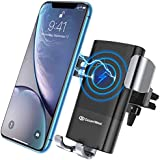 DesertWest Wireless Car Charger Mount, Gravity Car Phone Holder, Compatible Samsung Note 5/8, GalaxyS9 / S9 + / S8 / S8 + / S7 / S6Edge, iPhone Xs Max/Xs/ XR/X/ 8/8 Plus