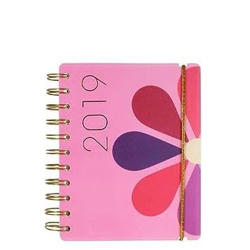 Agenda 2019 con diseño de margarita rosa A6: Amazon.es ...