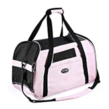 Pettom Pet Dog Cat Travel Tote Carrier (Pink, S)
