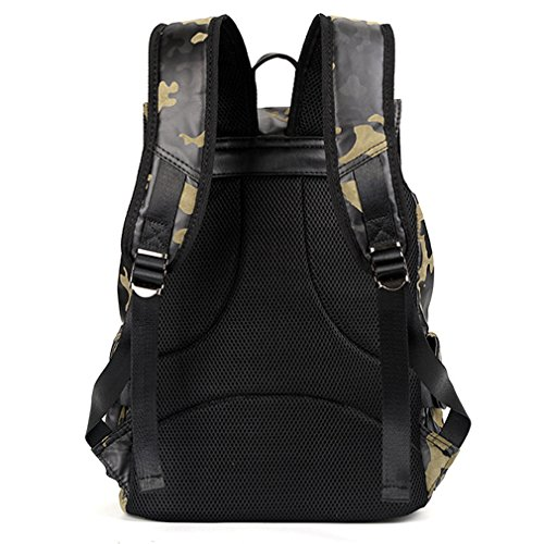 b406e0d32131 UKXMNC Men PU Leather Backpacks Mens Camouflage Backpack & Travel Bags Male  High College School Bags Rucksack Camouflage