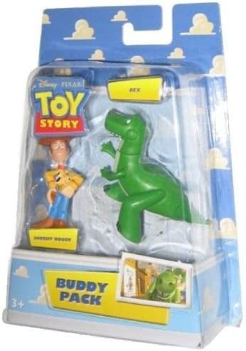 Mattel Toy Story 2 Figura de Amigos Pack - Sheriff Woody y Rex ...