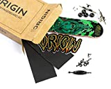 Origin Fingerboards Premium Graphic Fingerboard Kit - 32mm 5-Ply Canadian Maple Skateboard Toy with CNC Bearing Wheels (Hydra)