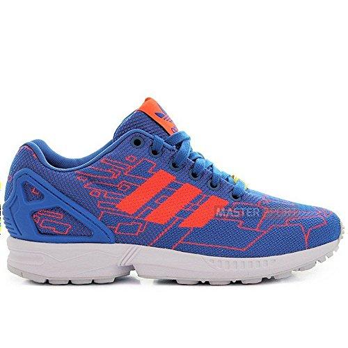 Adidas - ZX Flux Weave - Color: Blue-Orange - Size: 6.0