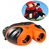 Toys for 4-5 Year Old Boys, DIMY 8x21 Compact Waterproof Travel Binoculars Orange DL05