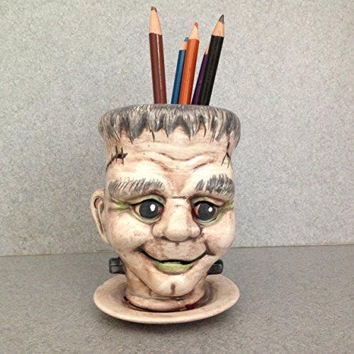 Cute Halloween Desktops (Frankenstein Desk top pencil holder Halloween decoration)