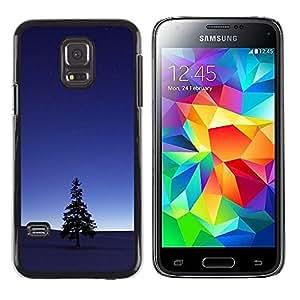 Árbol solitario en la oscuridad - Metal de aluminio y de plástico duro Caja del teléfono - Negro - Samsung Galaxy S5 Mini (Not S5), SM-G800