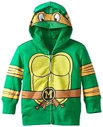 Teenage Mutant Ninja Turtles Little Boys\' Toddler Character Hoodie, Green, 4T