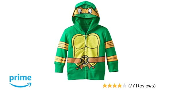 Amazon.com: Nickelodeon Toddler Boys Teenage Mutant Ninja Turtles Costume Hoodie, Green, 4T: Clothing