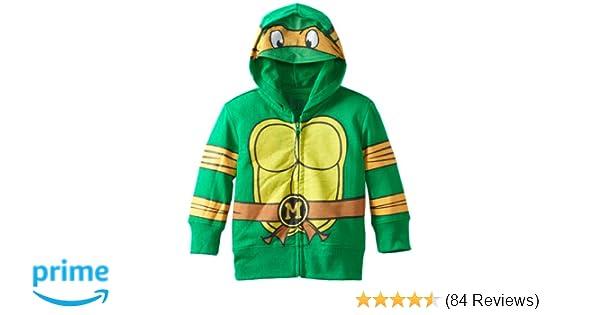 Nickelodeon Toddler Boys Teenage Mutant Ninja Turtles Costume Hoodie, Green, 4T